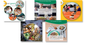 Folleto promocional Catergest (servicios de catering).