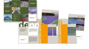 Carpeta/ catálogo DEPORCAS  (instaladores de pistas deportivas).